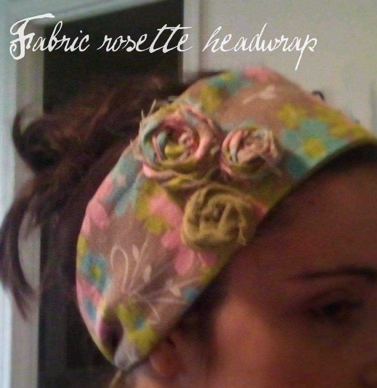 DIY Rosette Headwrap/Earwarmer