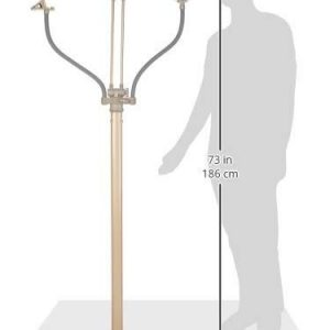 OttLite K94CP3 3-in-1 Adjustable-Height Craft Floor Lamp with Magnifier and Clip