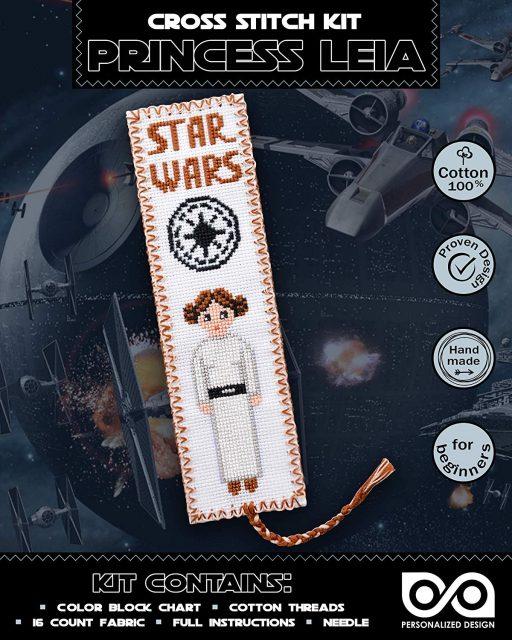 Cross Stitch Kits 'Star Wars' Princess Leia