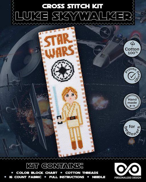 Cross Stitch Kits 'Star Wars' Luke Skywalker