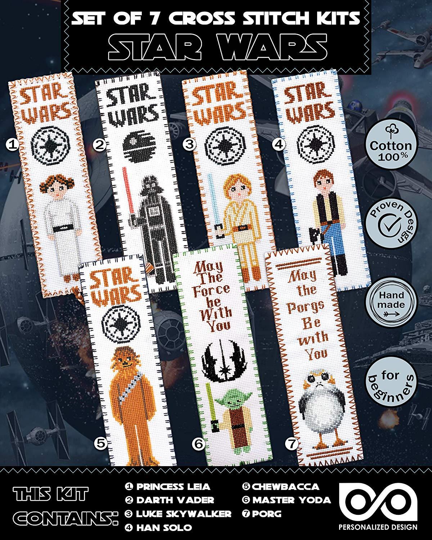 Cross Stitch Kits 'Star Wars' - Set 7-in-1