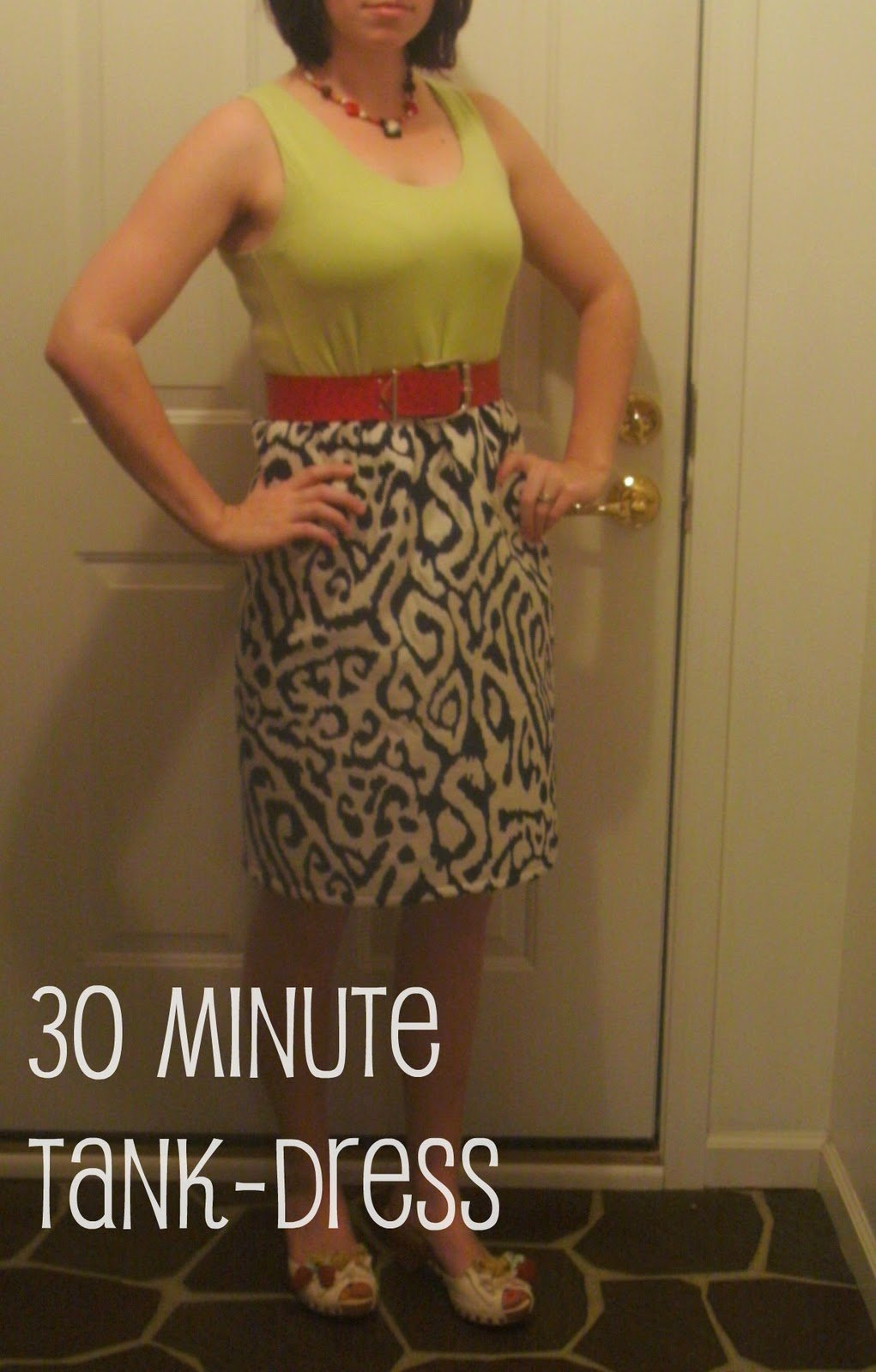DIY {30 minute}Tank-Dress