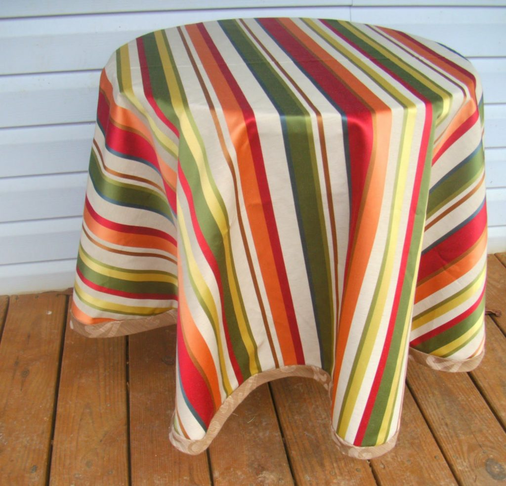 Diy Round Tablecloth Sew Homegrown