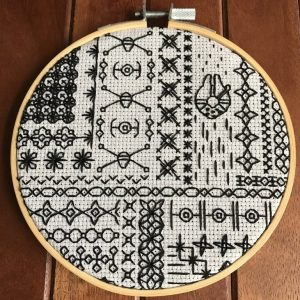 Star Wars Blackwork Embroidery Pattern