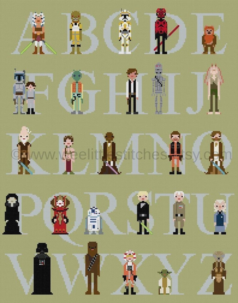 2. Star Wars Alphabet Sampler pattern