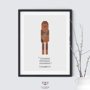 Chewbacca Quote Star Wars Cross Stitch Pattern