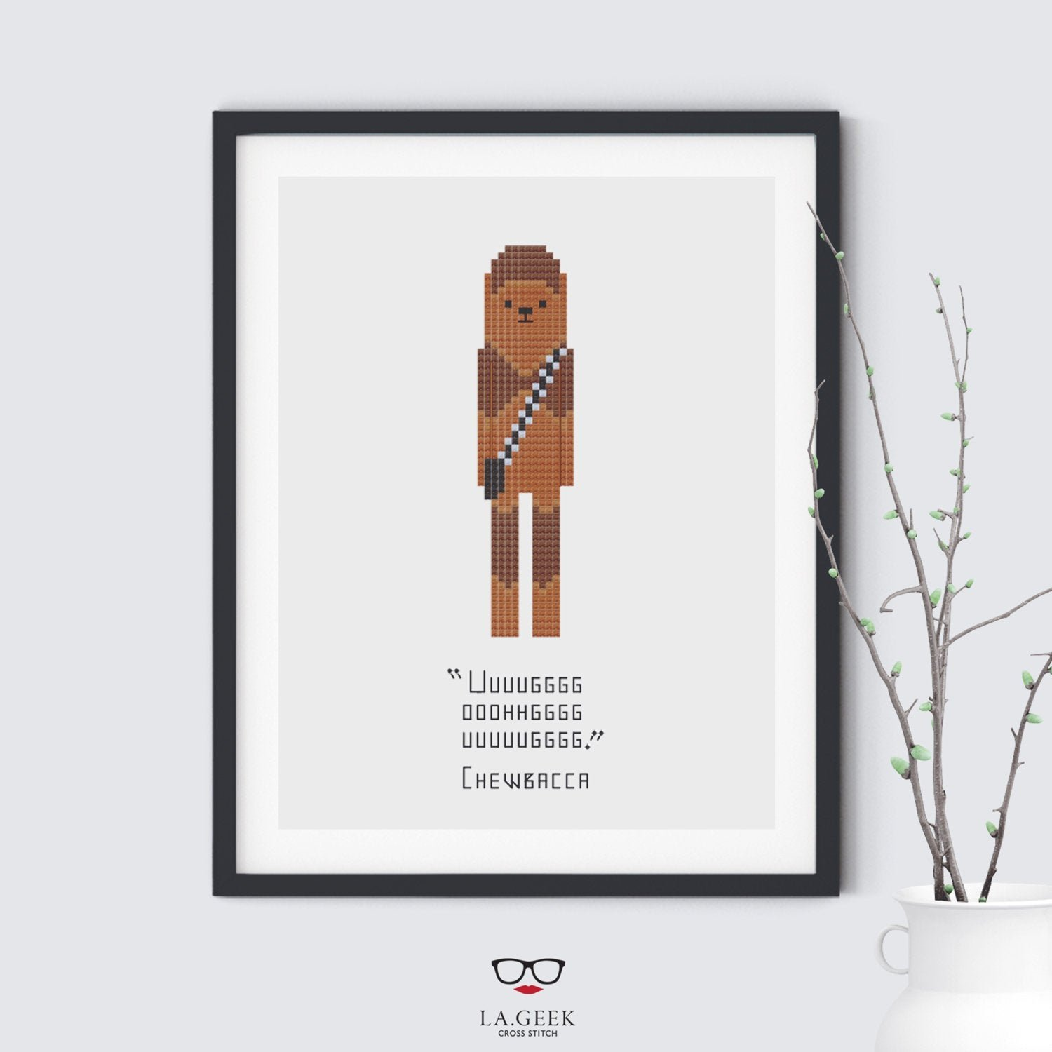 Chewbacca Quote Star Wars Cross Stitch Pattern