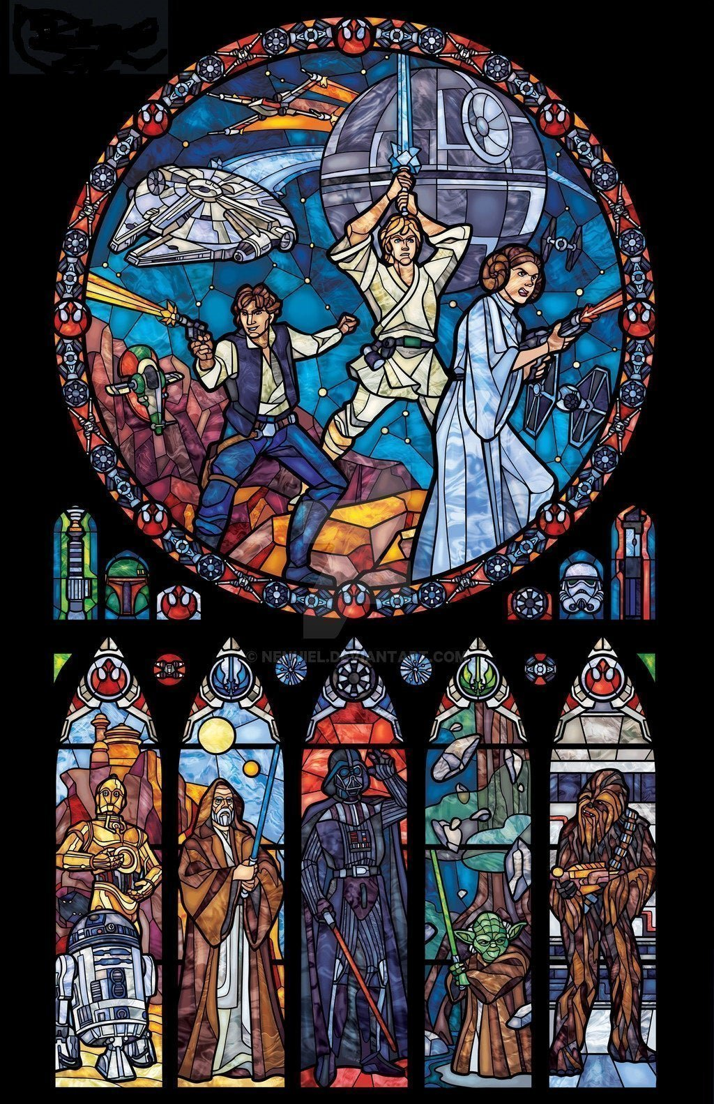 Star Wars Stainted Glass Cross Stitch Kit