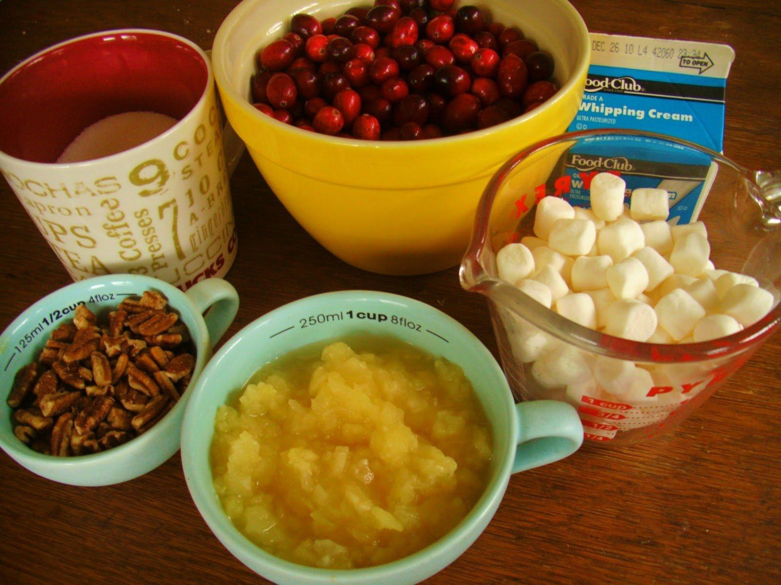 Fresh Cranberry Salad Ingredients