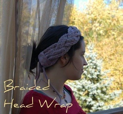 DIY Braided T-shirt Yarn Headwrap