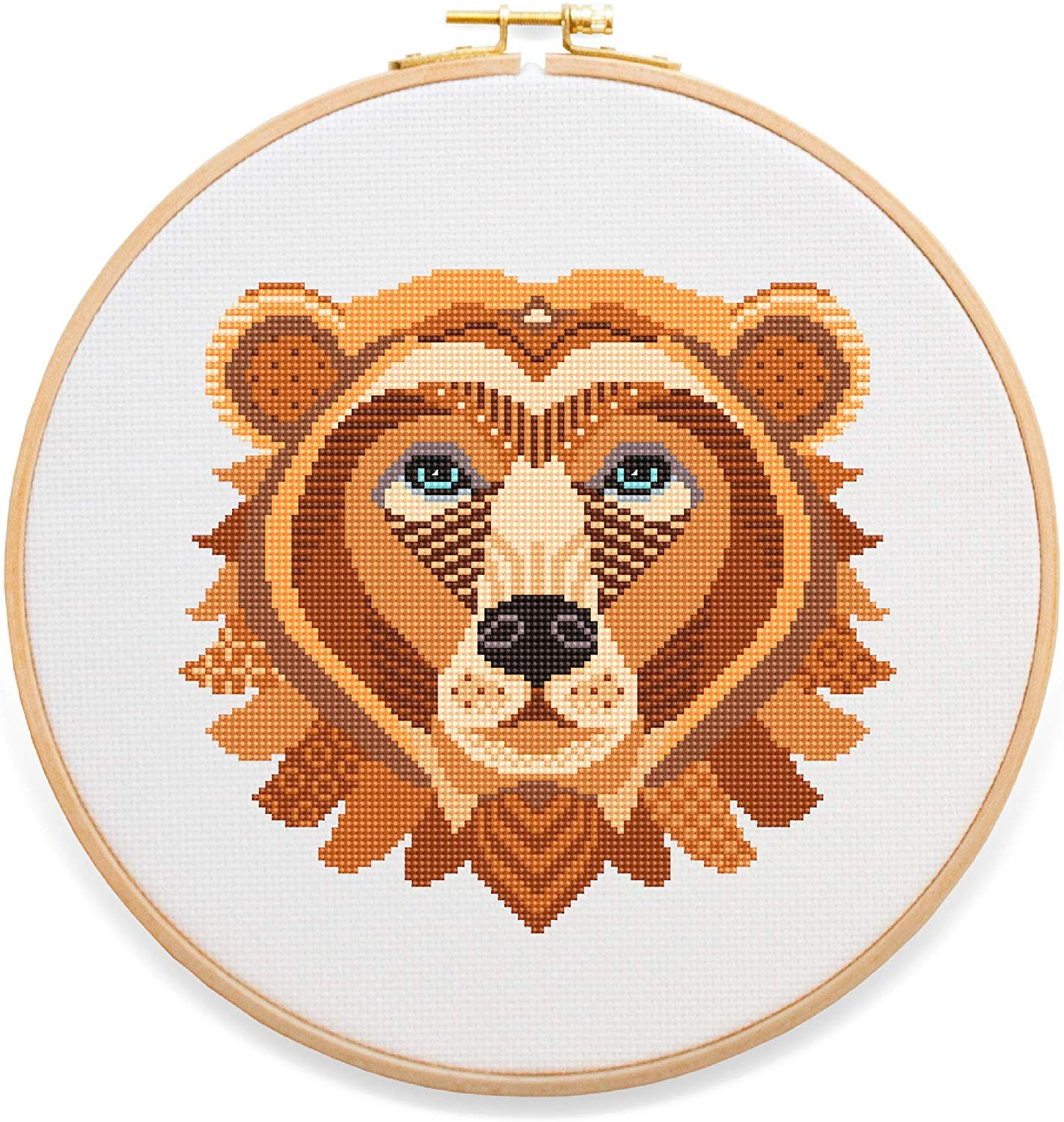 Bear Mandala Cross Stitch Kit by Stitchering