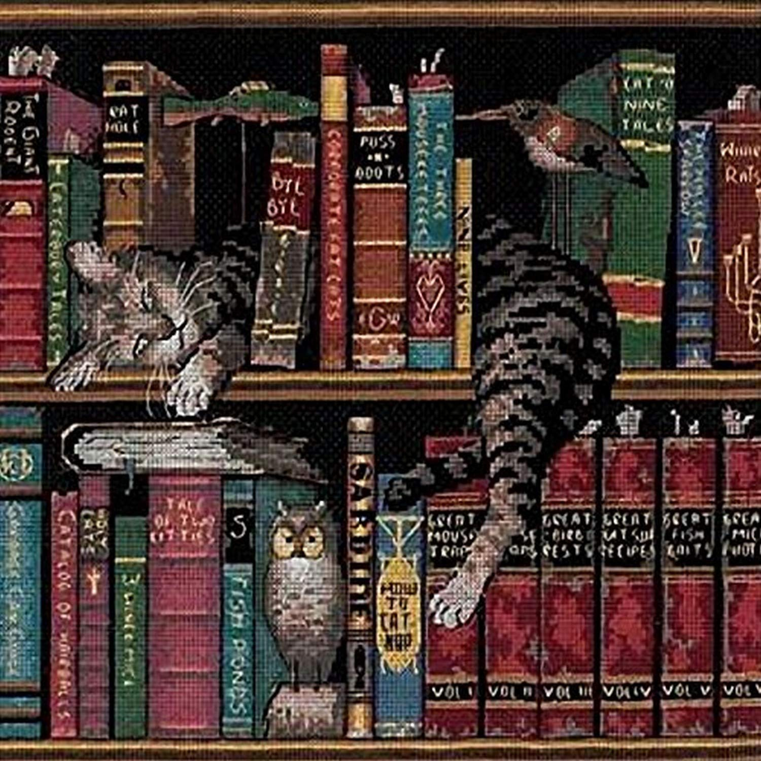 DIMENSIONS 'Frederick the Literate' Snoozing Cat Cross Stitch Kit
