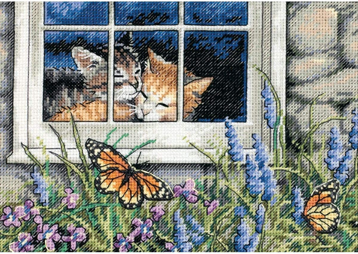 DIMENSIONS Gold Collection Counted Feline Love Cross Stitch Kit