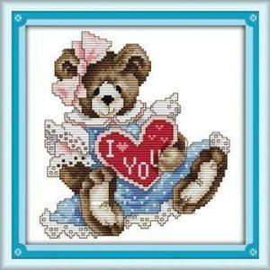 Joy Sunday Cross Stitch Kit February bear