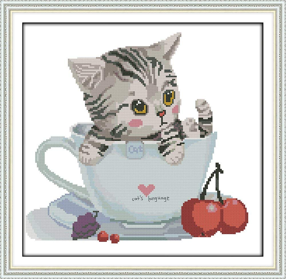Maydear Cat Cross Stitch Starter Kits for Beginners