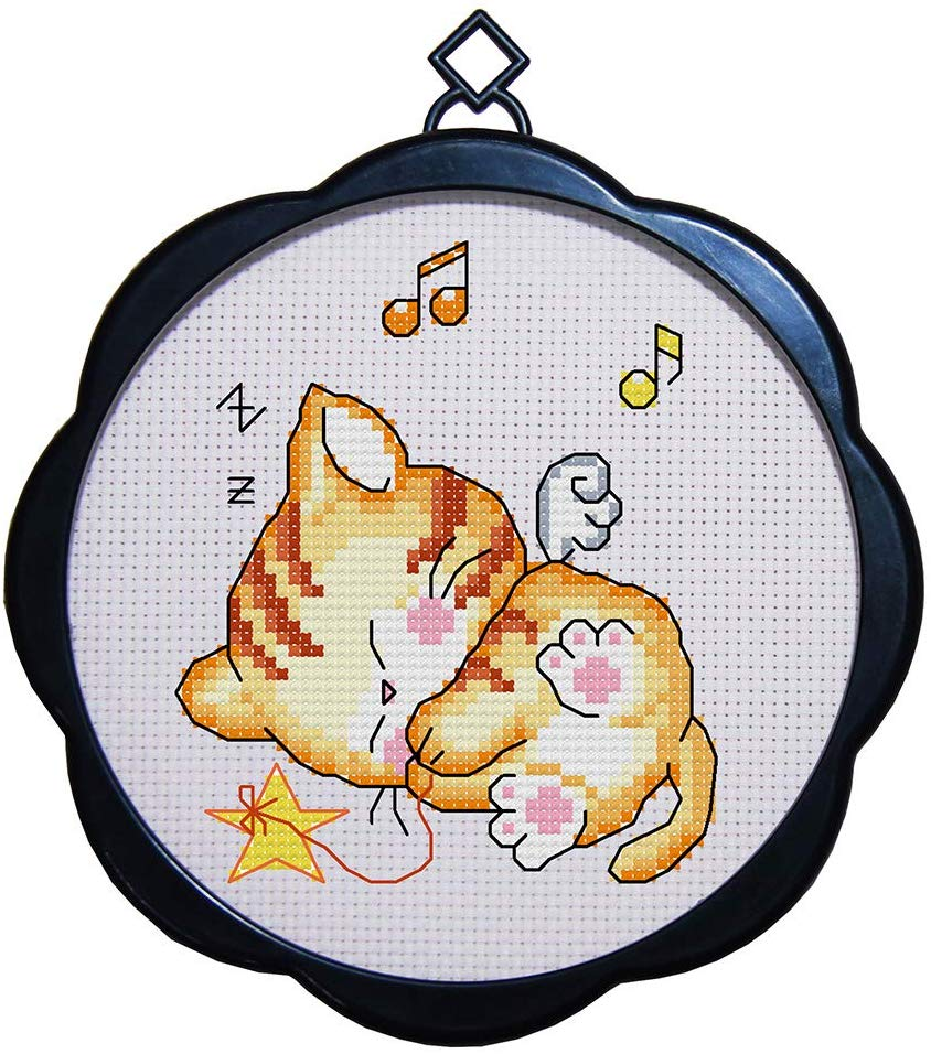 Maydear Kitten Embroidery Starter Kits for DIY Embroidery