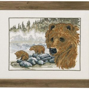 Permin The Brown Bear Counted Cross-Stitch Kit