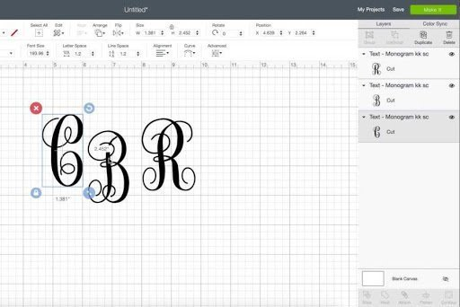 monogram stitch