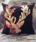 """DIY Anthropologie-inspired """"blooming deer"""" pillow"""