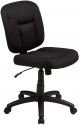 Amazon Basics Low-Back Computer Task Office Desk Chair with Swivel Casters