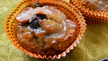 Grain Free Pumpkin Blueberry Muffins