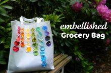{DIY} Simple Embellished Grocery Bag…or beach bag…