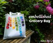 {DIY} Simple Embellished Grocery Bag…or beach bag…