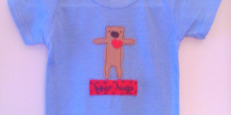 Baby Boy Valentine Onesie: Bear Hugs