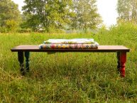 Rustic Spindle Bench