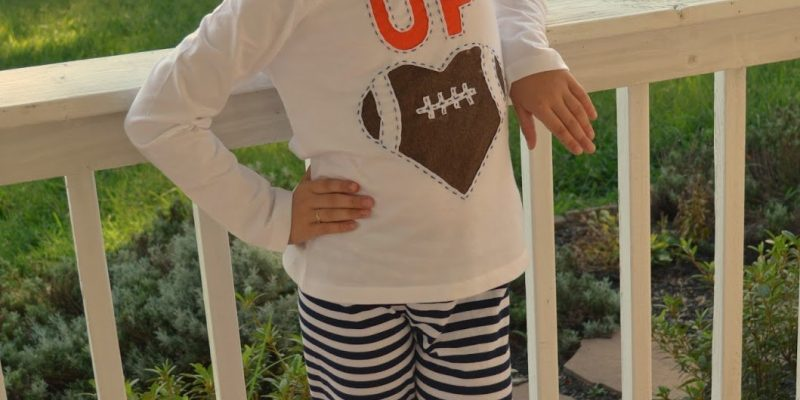Reverse Applique Football T