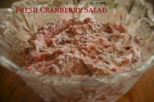 Fresh Cranberry Salad: a MUST for your holiday dinners