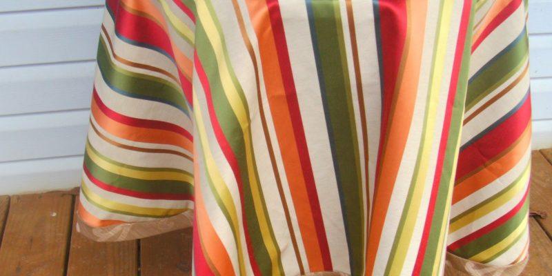DIY Round Tablecloth!
