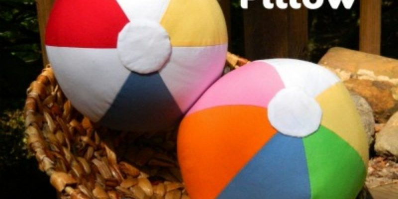 {DIY} 6 Piece Beach Ball Pillow