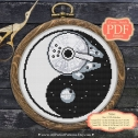Star Wars Blackwork Embroidery Pattern
