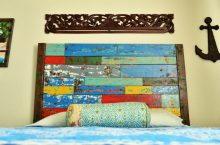 {DIY} Faux Boat Wood – how to make painted wood look chipped and old