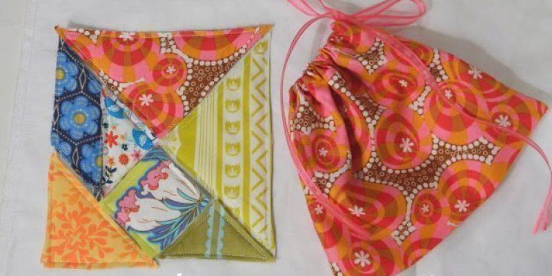 DIY Fabric Tangram with Drawstring Bag