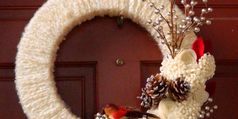 {DIY} Woodland Winter Wreath